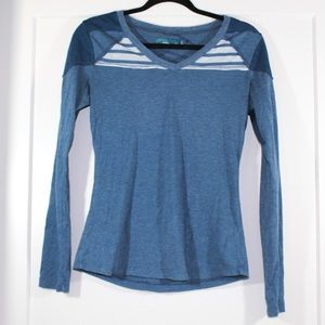PrAna blue long sleeve top